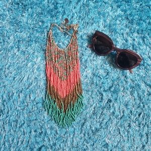 2/$45 Set of necklace and sunglasses